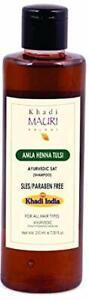 Khadi Mauri Herbal Amla Heena Tulsi Shampoo 210ml