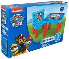 Paw Patrol Maltisch Kinder Malset Sitzgruppe Tisch Stuhl Spielzeug Set Malsachen