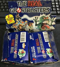 6 Open Packs + Display Box Vintage THE REAL GHOSTBUSTERS Stickers Diamond/Panini