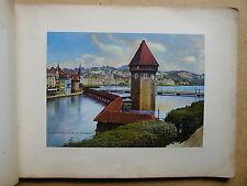 1900 Photograph Album. Lake Lucerne, Switzerland Swiss Alps (ref PH2)