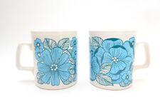 Fabulous Pair of Vintage Floral Mid Century Vintage Staffordshire Potteries Mugs