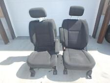 09-15 NISSAN TITAN FRONT SEAT BLACK GREY CLOTH POWER OEM