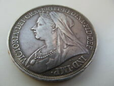More details for 1897 queen victoria lxi crown, attractively toned , good vf grade