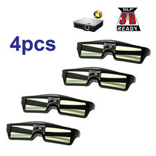 4pcs Active shutter DLP 3D glasses for BenQ W1070 MW529 Optoma GT750e Projector