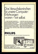 3w02827/vecchia pubblicità con loghi di 1969-PHILIPS Data Systems p1000