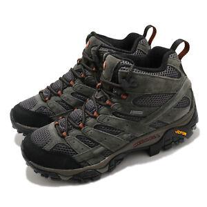 Merrell Moab 2 Leather Mid GTX Gore-Tex Beluga Grey Men Outdoors Hiking J18419
