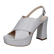 scarpe donna OLGA RUBINI 36 EU sandali grigio pelle BY350-B