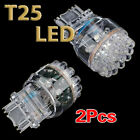 2x T25 3157 3057 W21/5W White Car 24 SMD LED Stop Tail Brake Light Bulb 12V HY
