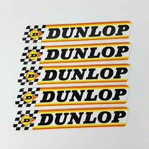 5x Dunlop Stickers 15cm x 2.5cm