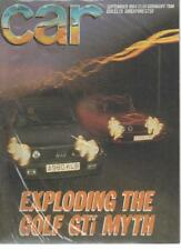 CAR MAGAZINE September 1984 Golf GTi AL