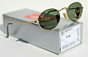 RAY-BAN Sunglasses RB3547N 001 48 Oval Classic Gold Gray/Green G-15 NEW Italy