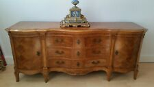 Large Antique Highly Decorative Walnut Inlaid Sideboard