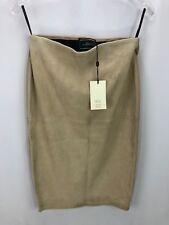 Malene Birger Women's Suede Leather Beige Skirt 36 / 2 NWT Orig $775