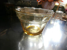 Vtg Made in Mexico Depression Golden Glass Cup Bowl Dessert Custard 4 Oz.