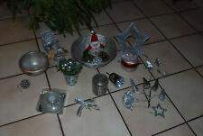 Lot d'articles de Noël argentés pour vos montages : panier, vasque,pots,bouquets