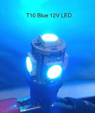 10 PC New BLUE T10 Wedge High Power Bright LED 12V 5W Lamp Bulbs Automotive OOS