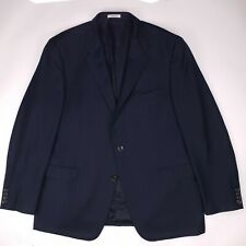 Hickey Freeman Blue Blazer 48L Lindsey Two Button Wool Mens Size Usa Side Vents
