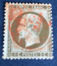 France N° 19 5 C Vert obli CAD Rouge Des Imprimés TB Qualité Cote 65€