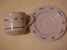 Longaberger Woven Traditions Classic Blue Cup and Saucer