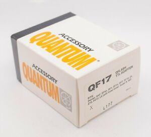 NOS - Quantum QF17 QFlash TTL Adapter For Pentax LX Super A 645 Etc. SLR Cameras