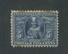 1907 US Stamps #330 5c Mint Hinged F/VF Stained Jamestown Exposition Issue