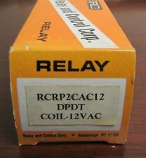 RCC RELAY AND CONTROL CORP DPDT Relay 12 VAC 10 Amp RCRP2CAC12