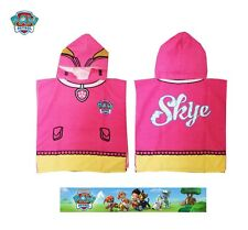 Official Paw Patrol Skye Towel Microfibre Poncho Towels Girls Gift 2-6 Year