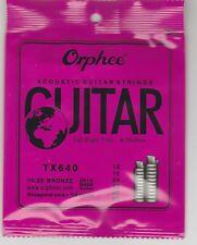 ORPHEE ACOUSTIC GUITAR STRINGS TX640 MEDIUM  75/25 BRONZE-FREE SHIPPING-