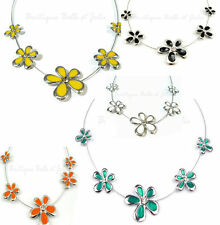 Modeschmuck-Halsketten & -Anhänger im Collier-Stil aus Legierung mit Florales