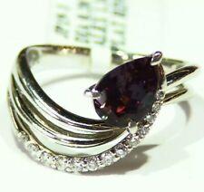 Vintage 1.56CT Platinum Natural Cut White Diamond Alexandrite Engagement Ring