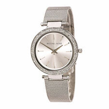 Michael Kors Uhr MK3367 DARCI Damen Edelstahl Silber Milanaise Armbanduhr Strass
