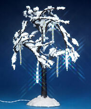 Lemax Decoration, 8.5 inch Large Lighted Icicle Tree Lit Xmas Village Decorating