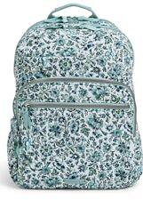 VERA BRADLEY Essential Large Backpack Laptop SchoolBag Cloud Vine MSRP:$115