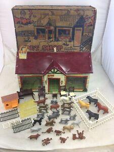 Vintage Marx Pet Shop Playset W/ Box