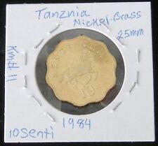 VERY NICE 2 COIN SET ~ TANZANIA 1984 10 SENTI (UNC) & 1981 20 SENTI (BU)