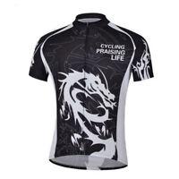 Black Dragon Cycling Bike Short Sleeve Top Shirt Clothing Bicycle Jersey S-3XL