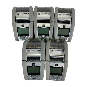 LOT OF 5 Zebra QLn220 Barcode Thermal Printer Wireless BT USB NO Battery