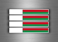 4x sticker decal car stripe motorcycle racing flag bike moto tuning madagascar
