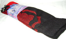 NEW LADIES FRESH FEEL LONG WARM SKI SOCKS SPORT RED & BLACK SIZE 4-7 37-41 LS1