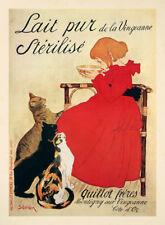 Lait pur de la Vingeanne Sterilise Katzen Jugendstil Plakat Plakate A2 376