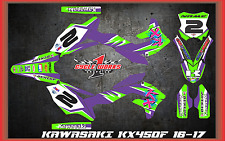 2016-17 KAWASAKI KX450 KX 450F CUSTOM MADE RETRO GRAPHIC KITS DECAL