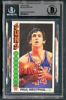 Paul Westphal #55 signed autograph 1976-77 Topps Basketball Card BAS Slabbed