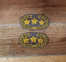 Confederate Officers CSA CS Rebel Collar Insignia - General - Grey