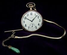 "Serviced~49mm (2"") 1920 Elgin 16s~15J~G.313~Gold Filled Pocket Watch & Chain"