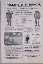 1903 Imprimé Annonces Publicités Philips & Stimson ~ Gyptican Huile Parcelles