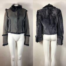 Rare Vtg Dolce & Gabbana Purple Suede Fur Jacket S