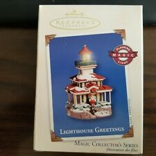 Hallmark Keepsake Lighthouse Greetings Ornament Magic Collector's Series #6 2002