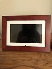 9 In. Digital Photo Frame-Stores 3000 Photos Easy Set-up Tested Works