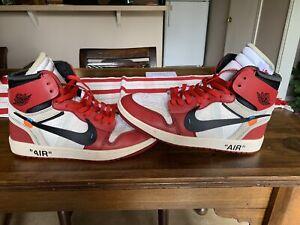 Nike Off White Jordan 1 Chicago Sz 9