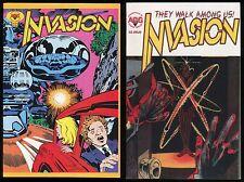 Invasion Comic set 1-2 Lot Jack Kirby Wally Wood Jim Aparo Tom Sutton Ditko art
